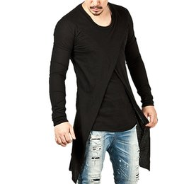 Coolest high tops online shopping - New Arrival Fashion Men Long T shirts Spring Autumn Long Sleeve O Neck Black High Quality Street Style Hip Hop Cool Tops Plus Size Tees