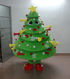 tree costumes Australia - Christmas tree Mascot Costumes Animated theme Cospaly Cartoon mascot Character Halloween Carnival party Costume