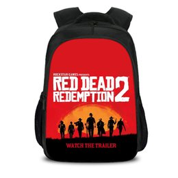 7fd0dd72a5d School bags Red Dead Redemption 2 Game For Teens Travel Backpack Boys  Bookbags For Student Bag Back To School H257