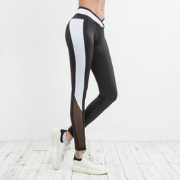 Sexy Yoga Pants Dance Australia - Women Mesh Patchwork Sexy Yoga Leggings Female Running Dancing Fitness Tight Pants Sport Gym Trousers Slim High Waist Quick Dry