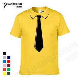 9a05d013 YUANQISHUN Brand Men's T-shirts College Style Fashion Simple Fake Tie Print  Tuxedo Tee Tops Cotton Leisure Short Sleeves Tshirt