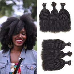 $enCountryForm.capitalKeyWord NZ - 4a,4b,Afro Kinky Curly 3pcs No Weft Bulk Human Braiding Hair Natural Colour Best Selling Products G-EASY