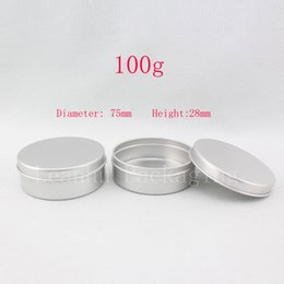 metal tea tin containers wholesale Australia - 100g aluminum round empty canning jar   tin  containers ,aluminum storage container ,candle tin,tea container, 50pc lot