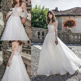 $enCountryForm.capitalKeyWord NZ - Modest A Line Wedding Dresses Long Sleeves Cirrus Applique Sheer Jewel Beads Floor Length Free Shipping Illusion Wedding Dress Bridal Gowns