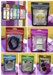Wholesale Ready Stock cm USB Cable Packing Bag Zip Lock Bag for Mobile Phone Accessories Case Earphone USB Cable Retail Packing Bag