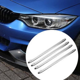 window car parts UK - 4pcs Plastic Car Double Side Adhesive Front Rear Bumper Protectors Corner Guard Stickers (White) Auto Exteriro Parts