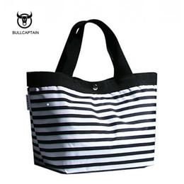 China 2018 Women Beach Canvas Bag Fashion Color Stripes Printing Handbags Ladies small Shoulder Bag Totes Casual Bolsa Shopping Bags cheap stripe canvas tote beach bags suppliers