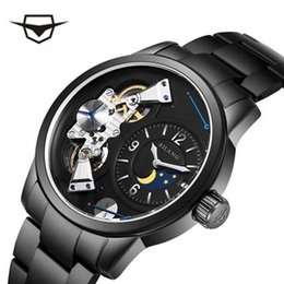 Discount mechanical moonphase - AILANG Brand Watch Men Watch Moonphase Automatic Mechanical Stainless Steel Sapphire water proof Alarm Clock Male