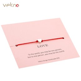 Discount delicate crowns - VEKNO Delicate Gold Heart Star Crown Bracelet His and Her Adjustable Red String Rope Bracelets Lover Family Friendship G