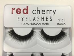 $enCountryForm.capitalKeyWord Canada - Hand Made 100% Human Hair Red Cherry Fake Lashes natural Long False Eyelashes 5 pairs each set DHL Free