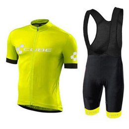 China 2018 Cube Cycling Jersey new Brand Pro Team Ropa Ciclismo Quick-Dry Sports Jersey Cycling Clothing Men's MTB bicycle Wear A2303 cheap cube short clothing suppliers