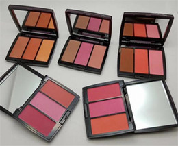 China Best selling New Brand Blush Trio Palette 3 colors face blusher powder 5 styles cosmetics High Quality dropshipping 1pcs free shipping supplier best blusher suppliers