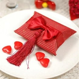 Sugar pulp online shopping - New Tassels Sugar Box Originality Wedding Favors Gift Boxes Red Sweet Candy Case Party Decor Hot Sale jh ff