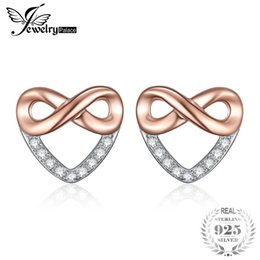 InfInIty earrIngs online shopping - JewelryPalace Infinity Heart Cubic Zirconia Stud Earrings Sterling Silver Gifts For Her Anniversary Fashion Jewelry New S18101307