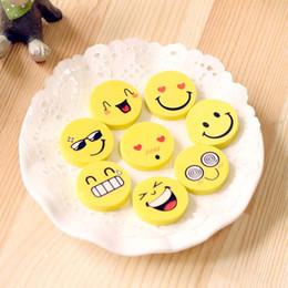 $enCountryForm.capitalKeyWord Australia - New Mini Cute Cartoon Kawaii Rubber Smile Face Emoji Eraser For Kids Gift School office Supplies