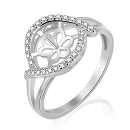 002d71ff9e7f Anillo de perlas de montaje brillante zirones Anillo de plata de 925  serling anillo accesorio para