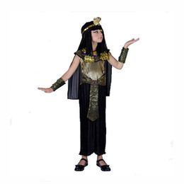 Discount cosplay cleopatra - 2018 Cleopatra Girls Cosplay Halloween Costume for Kids Carnival Party Costumes Girl Cleopatra VII Philopator Disfraz Mu