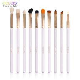 $enCountryForm.capitalKeyWord Australia - Docolor Eyeshadow Makeup Brushes Set Pro Gold Eye Shadow Blending Make Up Brushes Soft Synthetic Hair For Beauty D18111302