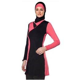 China Muslim Women Spa Swimwear Islamic Swimsuit Full Face Hijab Swimming Beachwear Swimsuit Sport Clothing Burkinis cheap sports hijab suppliers