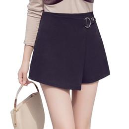 $enCountryForm.capitalKeyWord Canada - 2018 new high waist shorts black white elegant office lady work short pants plus size irregular bandage zipper skirts shorts