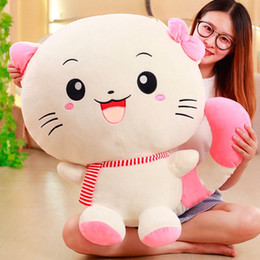 Fat Cat Doll Canada - Dorimytrader Kawaii Cartoon Cat Plush Toy Giant Cute Anime Fat Kitten Doll for Girl Friend Gift Deco 70cm 28inch DY50516