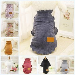 pet fleece jacket 2019 - Colorful Warm Winter Dog Apparel Soft Cotton Fleece Wear Clothes Lovely Small Pets Accessories Wool Yarn Bottoming Shirt
