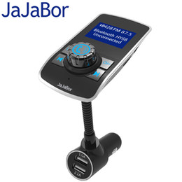 usb music player display UK - JaJaBor Bluetooth Car Kit Handsfree FM Transmitter Support TF Card MP3 Music Player Voltage Display 5V 3.1A Dual USB Car Charger