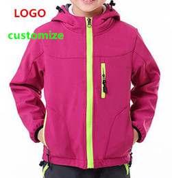 Wholesale Outdoor Sports Kids Jackets Windproof Waterproof Spring Autumn Hoodies High Quality Warm Clothes Boys Girtls Soft Shell color S XXL