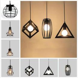 Discount 85 inch - Retro Pendant Lamp Edison Light E27 Holder Iron Creative Living Room Restaurant Bar Attic Bookstore Cage Industrial Lamp