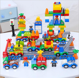 Chinese  DHL Building Blocks Plastic Digital Box 106 digital train car kids toys Children's toy bricks Educational Intelligence Safe Environmental manufacturers