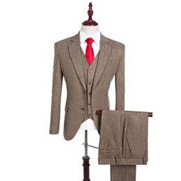 $enCountryForm.capitalKeyWord Canada - Latest Coat Pant Designs Brown Notch Lapel Men Suit Tailor Made Groom Tuxedos Wedding Suits Best Man Blazer (Jacket+Pants+Vest) S18101903