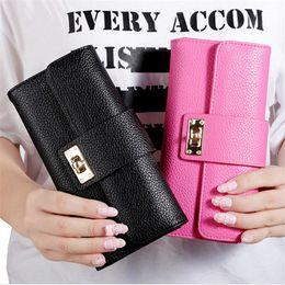 Wholesale Ladies Wallets Handbags NZ - New Arrive 1Pc Women Leather Bifold Wallet Clutch Phone Card Holders Purse Lady Long Handbag