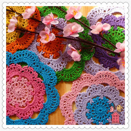 Wholesale 2016 Fashion China Latest Products 12 Pcs 6 Colored Kawaii Lace Round Cotton Felt For Hot On The Table As Kitchen Accessories