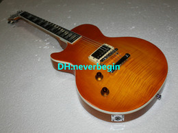 $enCountryForm.capitalKeyWord Australia - Left Handed Honey Burst ONE Piece Neck Electric Guitar High Quality Mahogany OEM Cheap