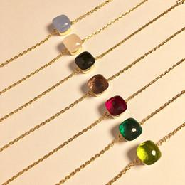 f5558f19fbc7 El brazalete de diseño de París chapado en oro BL con cristal decora el  material de latón pulsera de amuleto de una sola cadena para las mujeres y  la madre ...