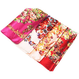 f64524a4fa373 Silk Polyester Square Scarves UK - Satin Scarf Big Square Scarves Printed  Handkerchief Polyester Silk Scarf