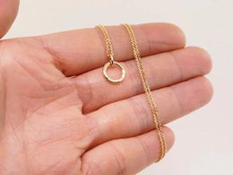 Dainty Pendants Australia - Simple Dainty round hollow Circle pendant geometric Necklace Open Circle Outline Necklace eternity karma circle round necklace jewelry