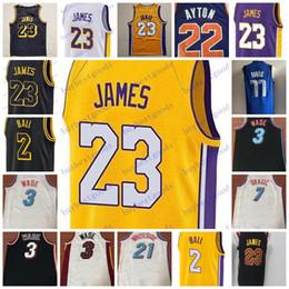 56cc86e37ad 2018 New 23 LeBron James Jersey 77 Luka Doncic 22 DeAndre Ayton 2 Lonzo Ball  Basketball Jerseys Stitched S-XXL White Black Yellow Purple cheap ball  jerseys