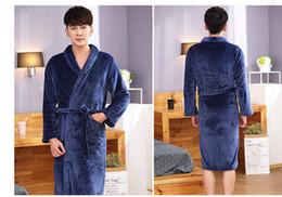 Robe Warmer Canada - Mix and Match Welcome Free shipping ACI-233 Hot Sale Lovers Silk Flannel Warm Long Bathrobe Women Dressing Gown Bride Kimono Bath Robe Femme