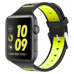 $enCountryForm.capitalKeyWord Canada - Fashion Double color breathe Silicone strap for apple watch band strap 42mm 38mm 40MM 44MM for iwatch series 4 3 2 1 sport smartwatch belt