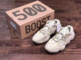 Boost 12 online shopping - 2018 New Arrival Boost Desert Rat Kanye West Wave Runner Sneakers Running shoes Black Athletic Sneaker Outdoor boots size