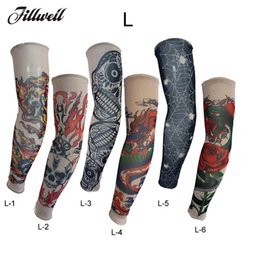Cycling Skeleton NZ - 1pc Sunscreen Arm Sleeves Breathable Skull Skeleton Cuff Sleeves Cycling Hiking Running Arm Stockings UV Protective Warmers