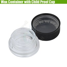 Dry herb herbal wax vaporizers online shopping - New Pyrex Wax Container Child Proof Cap Cover Dab Glass Jars Dry Herb Herbal Non Stick Concentrate Waxy Food Grade Bottle Vaporizers Dabber