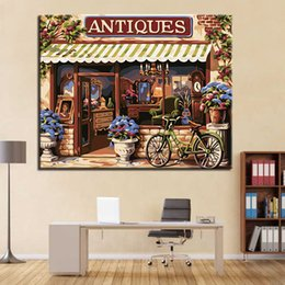 $enCountryForm.capitalKeyWord NZ - European Style House DIY Painting By Numbers Hand Painted Wall Art Antiques Canvas Oil Pictures Home Decor Living Room Artwork