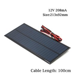 Wholesale solar panels 5W online shopping - 10pcs x V V Solar Panel with cm wire Mini Solar System DIY For Battery Cell Phone Charger W W W W W W W W