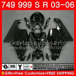 China Body For DUCATI 749-999 749S 999S 749 999 03 04 05 06 Glossy black Bodywork 105HM.2 749 S 999 R 749R 999R 2003 2004 2005 2006 Fairing kit supplier fairing kit 749s suppliers