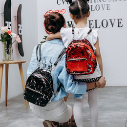 Korean Kid Backpacks Canada - Mother And Daughter Matching Backpack Fashion Korean Sequins Casual Shoulders Bags Cute Students School Bags Teenger Kids Travel Bag