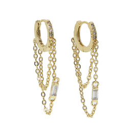 Copper hoop earrings small online shopping - 2018 Special Offer chain tassel small hoop earring colors Romantic cz round circle elegance cheap fashion women charm arrings