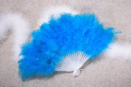 marriage wedding car NZ - High Quality Feather Fan For Dance Props Hand Goose Feather Folding Fan Wedding favor