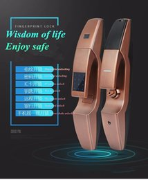 Semiconductor Fingerprint Against Theft Lock Zinc Alloy Password Intelligence Home Furnishing Mobile finger print door access biometric